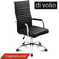 Офисный стул Majestic black diVolio до 150 кг. Эко-кожа
