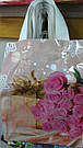 Полиэтиленовый пакет с петлевой ручкой ''Роза розовая'' 230*290, 10 шт, фото 2