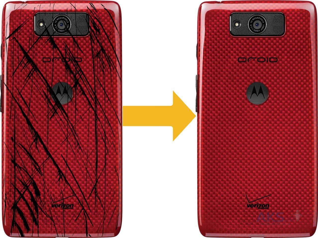 Задняя крышка Motorola XT1080 Droid Ultra, красная, Оригинал