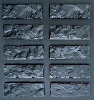 """Форма декоративного каменю і плитки """"Колота цегла"""" (в комплекті - 30 форм)"""