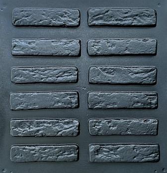 """Форма для декоративного каменю і плитки """"Римський цегла"""", АБС-пластик, 36 форм в комплекті"""