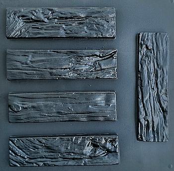 """Форма для декоративного каменю і плитки """"Деревне скол"""", 15 плиток в комплекті"""