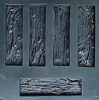 """Форма для декоративного камня и плитки """"Древесный скол"""", 15 плиток в комплекте, фото 4"""