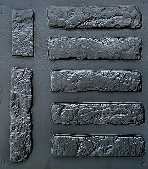 """Форма для декоративного каменю і плитки """"Стара цегла"""", в комплекті - 19.5 форм"""