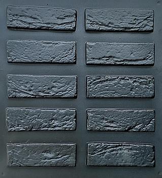 """Форма для декоративного каменю і плитки, АБС-пластика """"Венеціанський цегла"""" комплект 30 шт"""