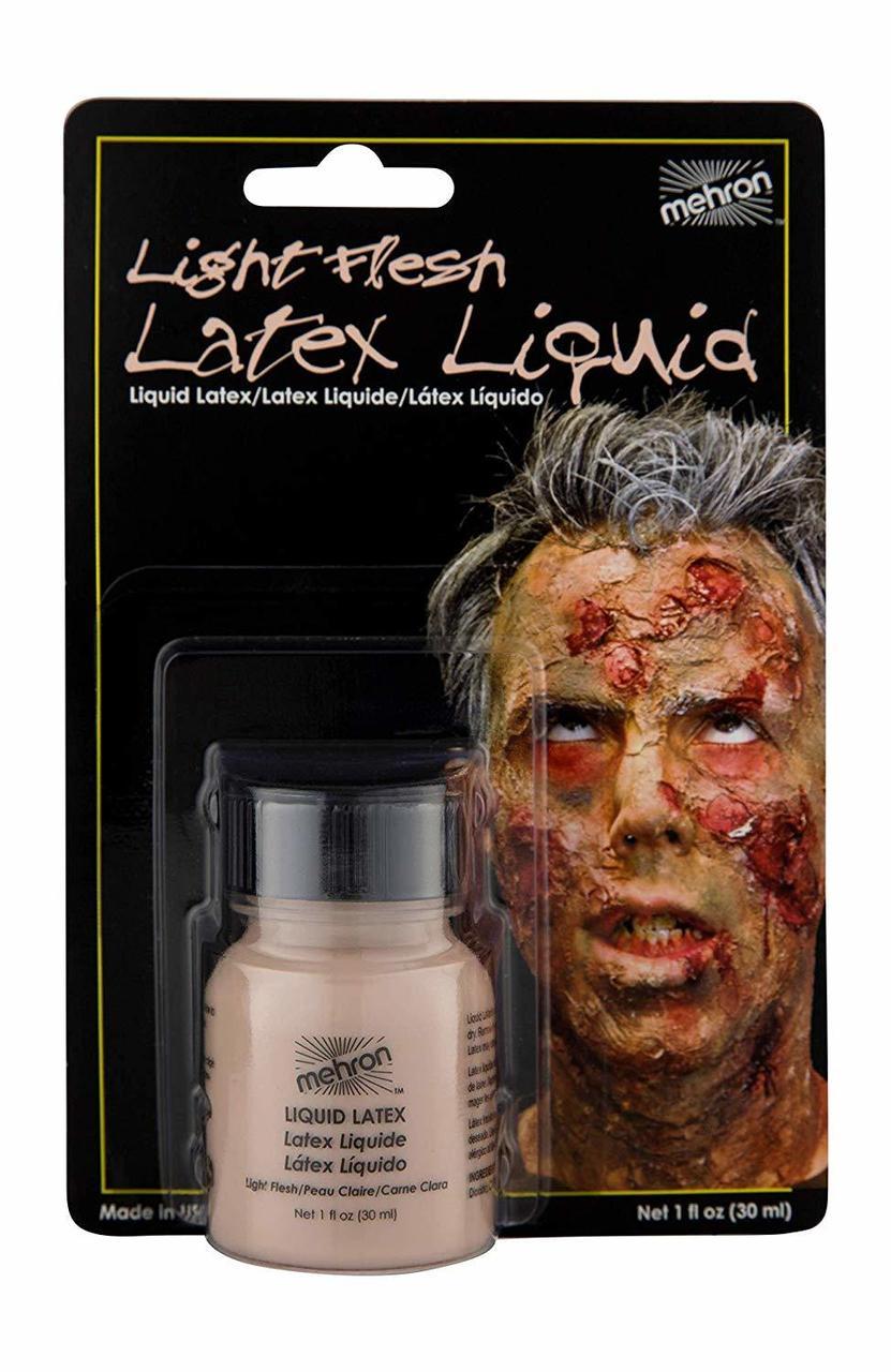 MEHRON Жидкий латекс бежевый с кисточкой Latex Liquid Soft Beige with Brush, 30 мл