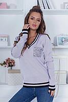 Красивый женский свитерок машинная вязка с люрексовой нитью 42-46.(4расцв), фото 1