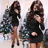 Короткое нарядное платье c люрексом, 2 цвета, с 40 по 46рр, фото 3