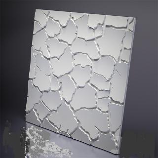 """Пластикова форма для виготовлення 3d панелей """"Кора"""" 50*50 (форма для 3д панелей з абс пластику)"""