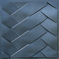 """Пластиковая форма для изготовления 3d панелей """"Переплет"""" 50*50 (форма для 3д панелей из абс пластика)"""