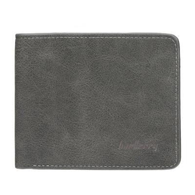 Мужской Кошелек Бумажник Baellerry (D8661) Маленький Искусственная Кожа Темно-Серый