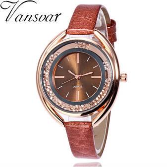 """Жіночі наручні годинники """"Vansvar"""" (коричневий), фото 2"""