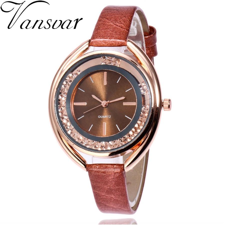 """Жіночі наручні годинники """"Vansvar"""" (коричневий)"""