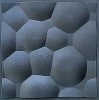 """Пластиковая форма для изготовления 3d панелей """"Сфера"""" 50*50 (форма для 3д панелей из абс пластика)"""