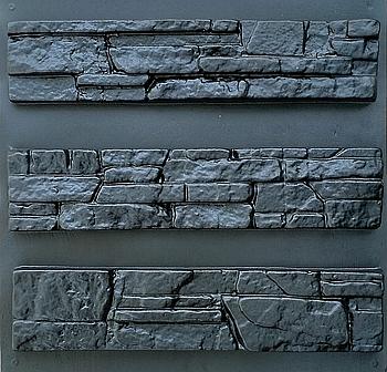 """Форма для декоративного каменю і плитки """"Аляска"""", АБС-пластик, 9 форм в комплекті"""
