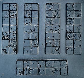 """Форма для декоративного каменю і плитки """"Корсика"""", АБС-пластик, комплект на 15 плиток"""