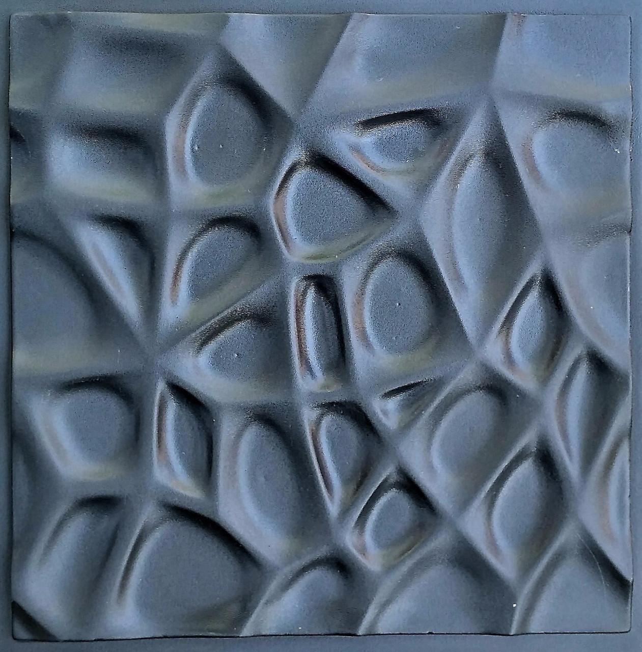 """Пластикова форма для виготовлення 3d панелей """"Павутина"""" 50*50 (форма для 3д панелей з абс пластику)"""