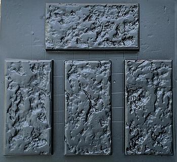 """Форма для декоративного каменю і плитки з АБС-пластика """"Ракушняк"""" (12 штук в комплекті)"""
