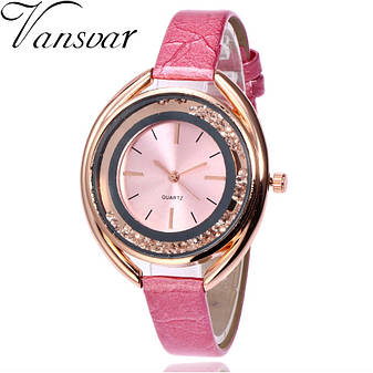 """Жіночі наручні годинники """"Vansvar"""" (рожевий), фото 2"""