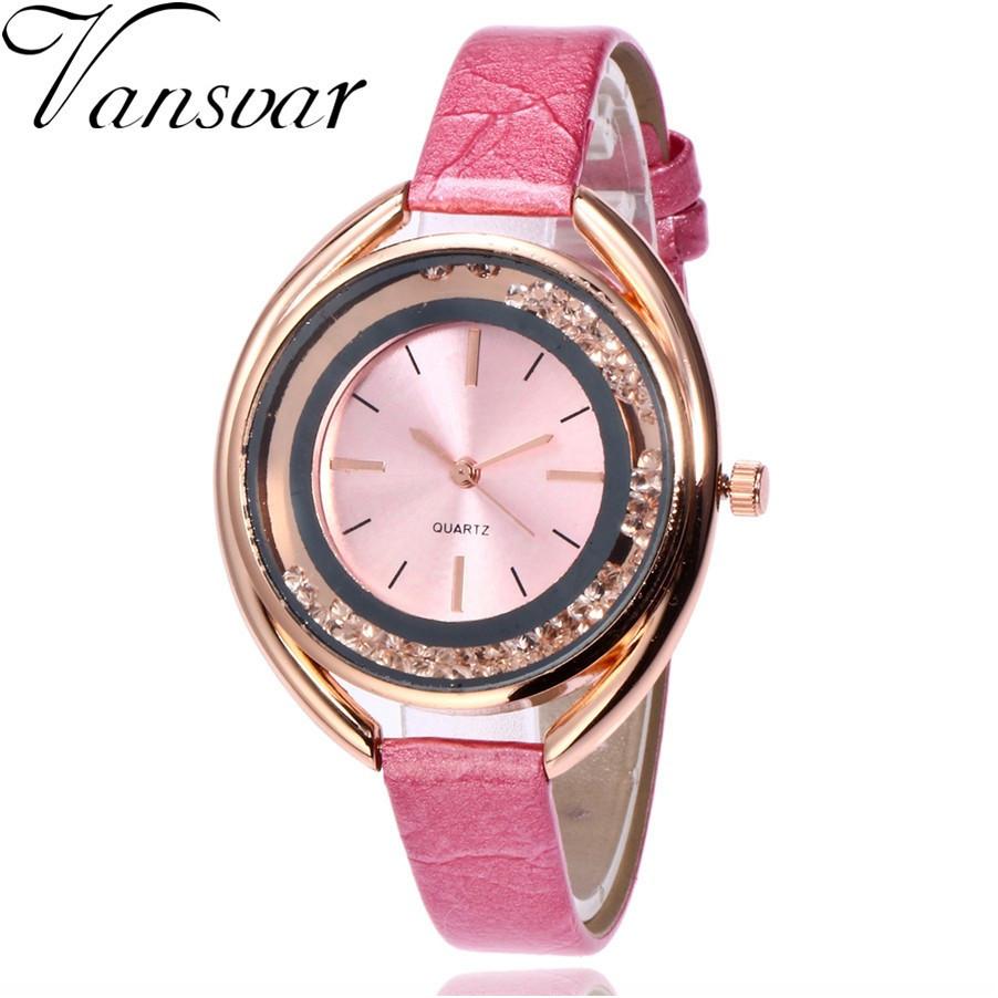 """Жіночі наручні годинники """"Vansvar"""" (рожевий)"""