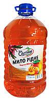 Жидкое мыло Carribo Персик-Манго - 5 л.