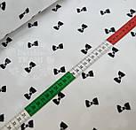 Отрез ткани с чёрными бантиками на белом фоне № 536а, размер 93*160, фото 4