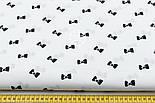 Отрез ткани с чёрными бантиками на белом фоне № 536а, размер 93*160, фото 5