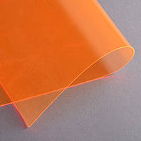 Силикон (0,5мм) оранжевый неоновый прозрачный ш.122 (22017.010)