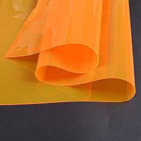 Силикон (0,2мм) оранжевый неоновый прозрачный ш.122 (22022.004)