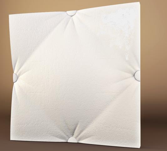 """Пластикова форма для 3d панелей """"Ретро-2"""" 50*50 (форма для 3д панелей з абс пластику)"""