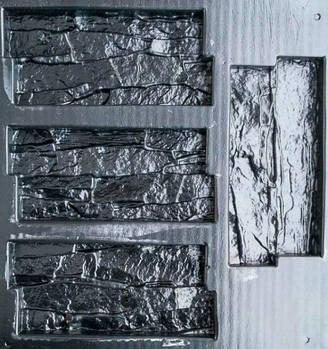 """Форма для декоративного каменю і плитки """"Скеля"""", АБС-пластик, 12 форм в комплекті"""