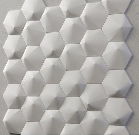 "Пластикова форма для 3d панелей ""Шестигранник №2"" 19*17,5 x5 (форма для 3д панелей з абс пластику)"