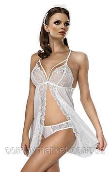 Комплект женского белья Miorre: полупрозрачная ночная сорочка и трусики XL-XXL