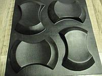 "Формы для 3d панелей ""Клин"" 25*17 x4 (форма для 3д панелей из абс пластика), фото 2"