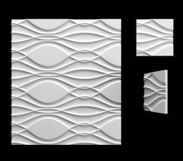 """Пластикова форма для 3d панелей """"Мілан"""" 50*50 (форма для 3д панелей з абс пластику)"""