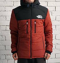 Куртка The North Face, оранжево-черная