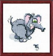 """Набор для вышивания крестом детский """"Слоник"""" №214 """"Чарівна Мить"""""""
