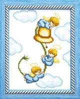 """Набор для вышивания крестом. """"Чарівна Мить"""" №А070 Ангелочки"""