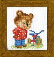 ВТ-017 Набор для вышивания крестом Crystal Art Подарок для мишки