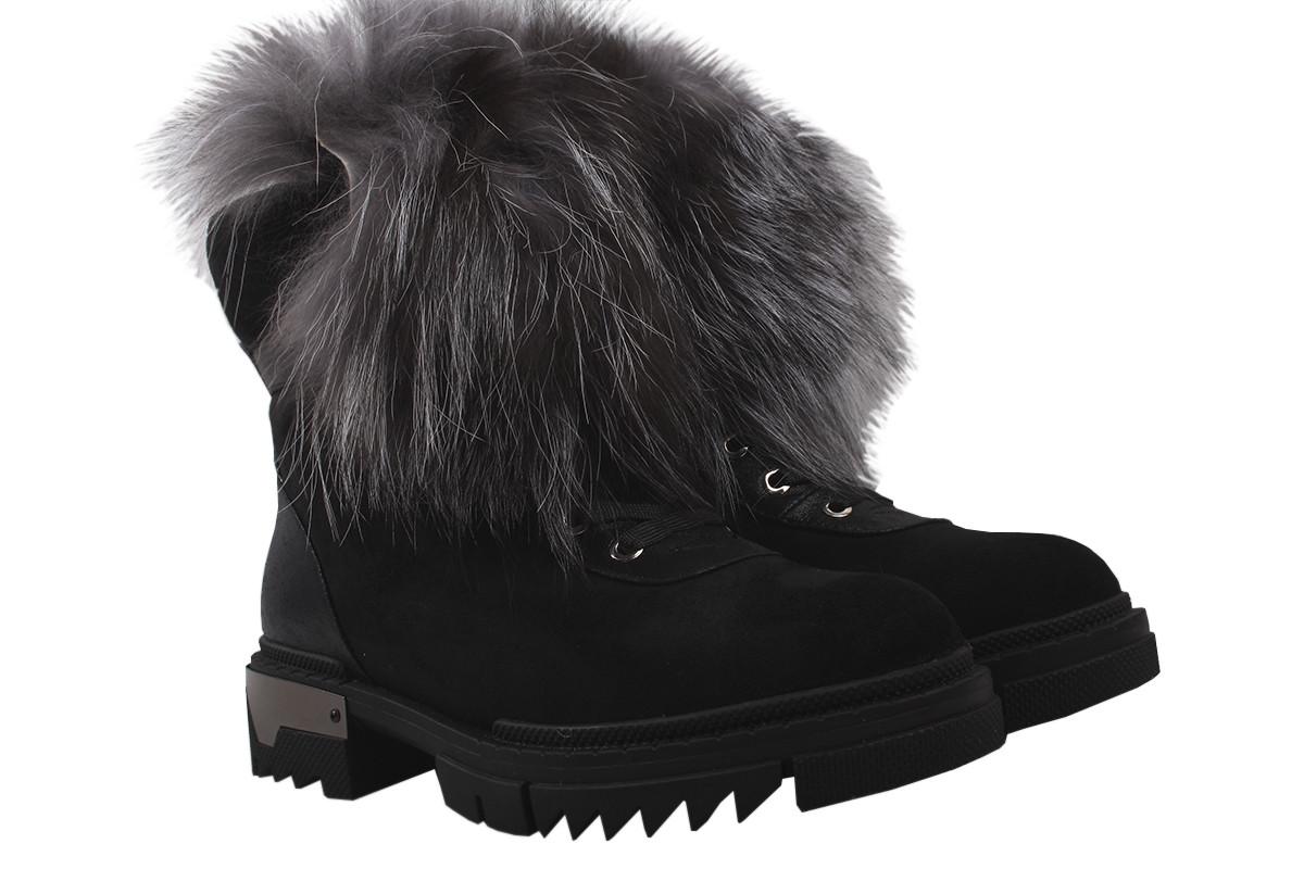 Ботинки женские зимние Oeego эко-замш, цвет черный, размер 36-41