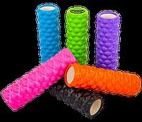 Роллер массажный Grid Bubble Yoga Roller 14*45см для йоги, пилатеса, фитнеса и массажа (FI-6672)