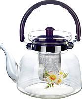 Заварочный стеклянный чайник, фото 1
