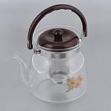Заварочный стеклянный чайник, фото 2
