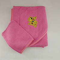Полотенце с уголком для купания новорожденного