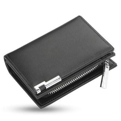 Мужской Кошелек Бумажник Baellerry Classical Mini (D1102) на Молнии для Карточек Черный
