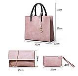 Набор женских сумок 3 предмета с брелком красного цвета BA-1, фото 7