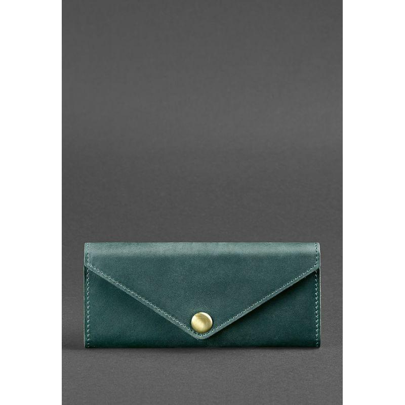 Женский кожаный кошелек Керри 1.0 зеленый Crazy Horse