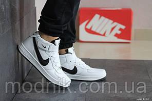 Мужские кроссовки Nike Air Force (бело-черные)
