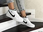 Мужские кроссовки Nike Air Force (бело-черные), фото 2