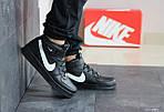 Женски кроссовки Nike Air Force (черно-белые), фото 2